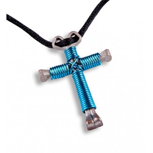 Horseshoe Nail Cross Necklace for Pinterest